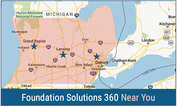 Foundation Solutions 360 Servie Area